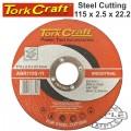 CUTTING DISC INDUSTRIAL METAL 115 X 2.5 X 22.2 MM