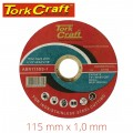CUTTING DISC STAINLESS STEEL 115 X 1.0 X 22.22 MM
