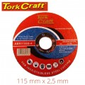 CUTTING DISC STAINLESS STEEL 115 X 2.5 X 22.22MM