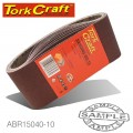SANDING BELT 100 X 560MM 40 GRIT 10/PACK