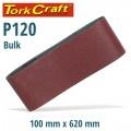 SANDING BELT 100 X 620MM 120 GRIT BULK