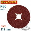 FIBRE DISC 115MM 60 GRIT BULK