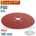 FIBRE DISC 180MM 80 GRIT BULK