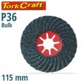 VULCANIZED FIBRE DISC 115MM 36 GRIT BULK