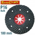 VULCANIZED FIBRE DISC 180MM 16 GRIT BULK