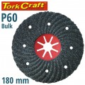 VULCANIZED FIBRE DISC 180MM 60 GRIT BULK