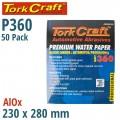 PREMIUM WATERPROOF PAPER  360 GRIT 230  X 280 (50 PIECE) AUTOMOTIVE