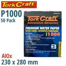 PREMIUM WATERPROOF PAPER  1000 GRIT 230  X 280 (50 PIECE) AUTOMOTIVE
