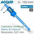 ACCUD DIGITAL CALIPER WITH CALIBRATION CERTIFICATE 0-150MM