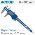 DIGITAL CALIPER 0-200MM/0-8' 0.01 METAL COVER