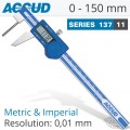 ACCUD DIGITAL TUBE THICKNESS CALIPER 0-150MM (0.01MM)