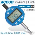 DIGITAL INDICATOR FLAT BACK 25.4MM/1'