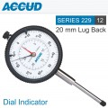 DIAL INDICATOR FLAT BACK 20MM