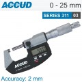DIGITAL OUTSIDE MICROMETER 0-25MM 0.001MM RES.