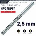HSS SUPER DRILL BIT 2.5MM 1/PACK (182025