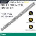 ALPEN PRO HSS 11MM DRILL DIN 338 RN 135 SPLIT POINT PLASTIC WALLET