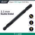 HSS SUPER DRILL BIT DOUBLE ENDED 3.3MM POUCHED