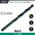 HSS SUPER DRILL BIT 0.3MM BULK