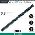 HSS SUPER DRILL BIT 0.8MM BULK