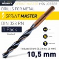 ALPEN SPRINT MASTER 10.5 MM REDUCED SHANK 9.5X25 POUCHED