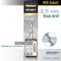 COBALT DRILL BIT SHORT POUCH 2.5MM