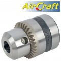 CHUCK 13MM 3/8-24UNF FOR AIR DRILL 12.5MM REVERSABLE 550RPM (1/2')