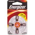ENERGIZER HEARING AID BATTERY AZ312 4 PACK (MOQ 6)
