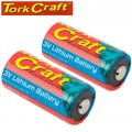 CR123A 3V LITHIUM BATTERY X2 PER CARD (MOQ 6)