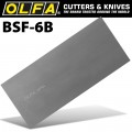 OLFA SCRAPER BLADES EXTRA HEAVY DUTY X6 FOR BSR200&BSR300 100MMX0.45MM