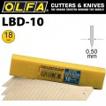 OLFA DOUBLE SEGMENTED HEAVY DUTY BLADES LBD-10 10/PACK 18MM