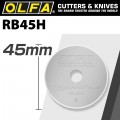 OLFA ENDURANCE BLADE FOR ROTARY CUTTER  RB45-1 1/PACK 45MM