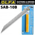 OLFA BLADES FOR SAC1 10/PK BLISTER 9MM SHARPER ANGLED BLADES