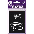 ADHESIVE STENCIL EGYPTIAN EY 100 X 70MM