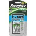 ENERGIZER VALUE CHARGER (C/W AA BATTERIES (4)