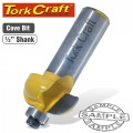 COVE ROUTER BIT WITH BEARING 1/2'X1/2'