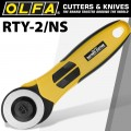 OLFA ROTARY CUTTER 45MM BLADE C/W SAFETY SLIDE