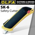 OLFA SAFETY KNIFE AUTO RETRACT + 3 EXTRA BLADES