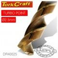 DRILL BIT HSS TURBO POINT 2.5MM 1/CARD