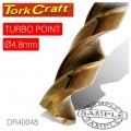 DRILL BIT HSS TURBO POINT 4.8MM 1/CARD