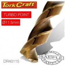 DRILL BIT HSS TURBO POINT 11.5MM 1/CARD
