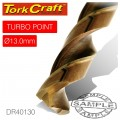 DRILL BIT HSS TURBO POINT 13.0MM 1/CARD