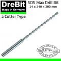 SDS MAX  DRILL BIT 340 X 200 X 14MM 2 - CUTTER TYPE