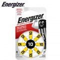 ENERGIZER HEARING AID BATTERY AZ10 YELLOW 4 PACK (MOQ 6)