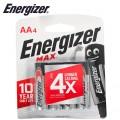 ENERGIZER MAX AA - 4 PACK (MOQ 12)