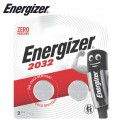 ENERGIZER CR2032BS1 3V LITHIUM COIN BATTERY (2 PACK) (MOQ 12)