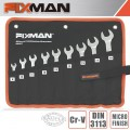 FIXMAN 9PCS COMBINATION SPANNER SET 8-10-11-12-13-14-15-17-19
