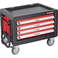 FIXMAN 4 DRAWER TOOL BOX ON CASTORS WITH PULL HANDLE 690MM X 465MM X 4