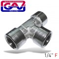 T CONNECTOR 1/4'FFF