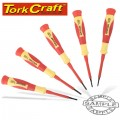 5PC PRECISION ELECTRONIC INSULATED SCREWDRIVER SET
