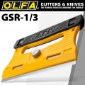 OLFA PROFESSIONAL GLASS SCRAPER S/STEEL BLADE 120MMX18MM INC 4 BLADES